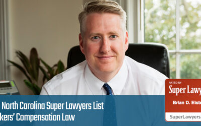 Brian Elston makes 2021 NC Super Lawyers List in Workers Compensation Law